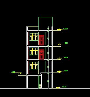 فایل اتوکد برش آپارتمان یک واحدی 3 طبقه کامل قابل ویرایش