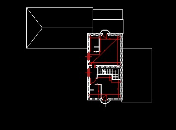 فایل اتوکد پلان معماری طبقه اول ساختمان ویلایی دوبلکس قابل ویرایش