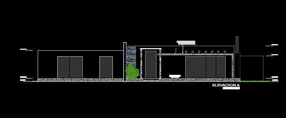 فایل اتوکد نما ساختمان ویلایی یک طبقه قابل ویرایش